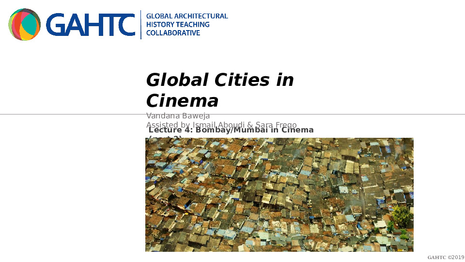 Global Architectural History Teaching Collaborative | Lectures